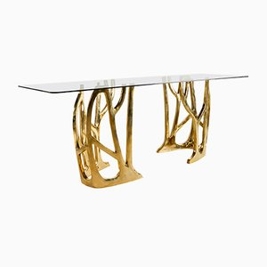 Brass Sculpted Galaxy Console Table by Misaya, 2019