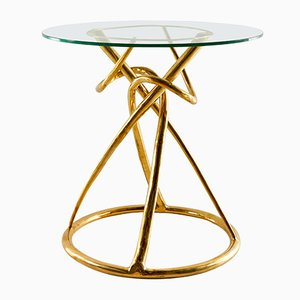 Brass Gordian Node Gueridon Table by Misaya, 2019