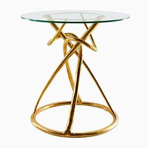 Gordian Node Gueridon Tisch aus Messing von Misaya, 2019