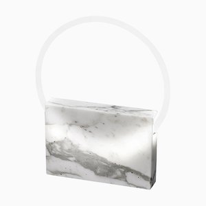 Lampada da tavolo in marmo bianco di Sabine Marcelis, 2019