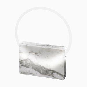 Lampe de Bureau en Marbre Blanc par Sabine Marcelis, 2019