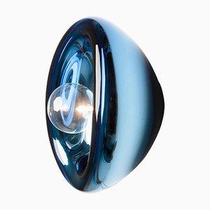 Aurum Wandleuchte aus blauem Glas von Alex de Witte