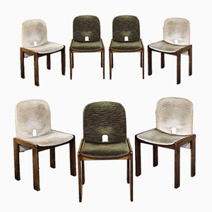Model 121 Dining Chairs by Afra and Tobia Scarpa for Cassina, 1965, Set of 9