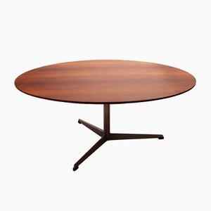 Mesa de centro modelo 3513 redonda de Arne Jacobsen para Fritz Hansen, años 60