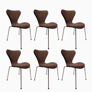 Sedie nr. 3107 Seven di Arne Jacobsen per Fritz Hansen, 1967, set di 6
