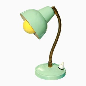 Italienische Mid-Century Tischlampe in Minzgrün, 1950er