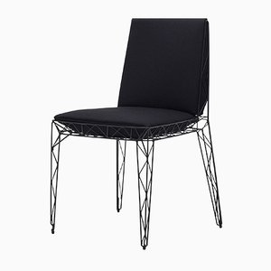 Nua Chair in Black by Alberto Colzani for Epònimo