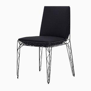 Nua Stuhl in Schwarz von Alberto Colzani für Epònimo
