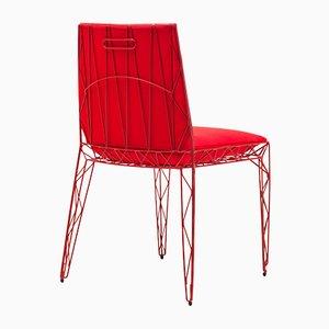 Nua Stuhl in Rot von Alberto Colzani für Epònimo