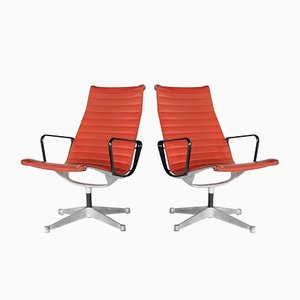 Mid-Century Modern Aluminum Lounge Chairs by Charles & Ray Eames for Herman Miller, 1960s, Set of 2