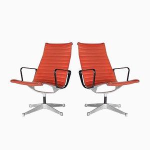 Sillones Mid-Century de aluminio de Charles & Ray Eames para Herman Miller, años 60. Juego de 2