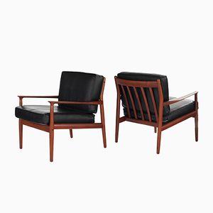 Danish Teak GM5 Lounge Chairs by Svend Aage Eriksen for Glostrup Furniture, 1960s, Set of 2