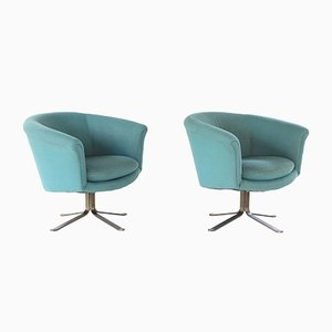 Mid-Century Modern Swivel Lounge Chairs by Nicos Zographos, Set of 2