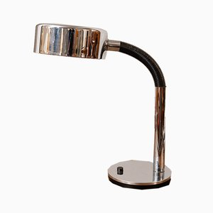 German Flexible Black & Chromed Desk Lamp by Egon Hillebrand for Hillebrand Lighting, 1970s