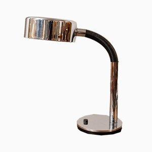 German Flexible Black & Chromed Desk Lamp by Egon Hillebrand for Hillebrand Lighting, 1970s