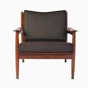 Rosewood Armchair from de Ster Gelderland, 1962