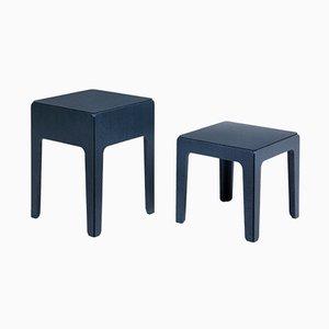 Tavolini in legno di Alberto Colzani per Epònimo, set di 2