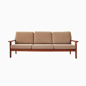 Teak Three-Seater Sofa, 1960s