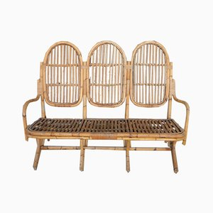 Small Italian Wicker Garden Sofa, 1960s