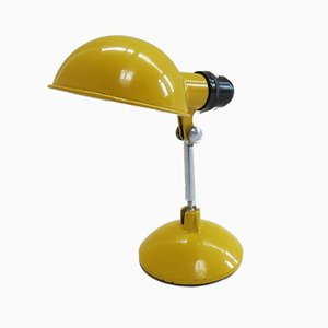 Yellow Metal Desk Travel Lamp from Grail, 1950s