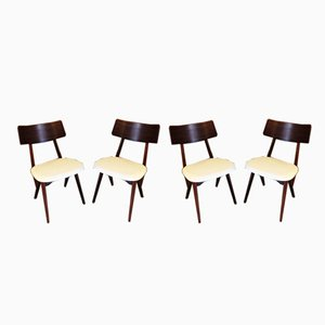 Dining Chairs by Louis van Teeffelen for Webe, 1950s, Set of 4