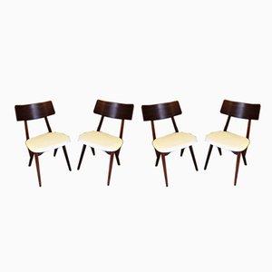 Esszimmerstühle von Louis van Teeffelen für Webe, 1950er, 4er Set