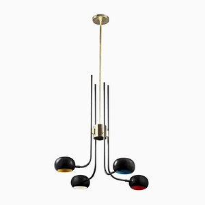 Blossom 4 Stalk Tulip Chandelier by Pierangelo Orecchioni for Brass Brothers