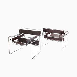 Moderne Mid-Century Wassily Chairs von Marcel Breuer für Knoll, 2er Set