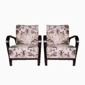 Czech Art Deco Style HF11 Armchairs by Jindrich Halabala for Interier Praha, 1950s, Set of 2