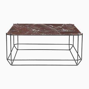 Table Basse Jewel avec Plateau en Marbre Bordeaux par Louise Roe pour Louise Roe Copenhagen