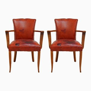 Moustache Back Bridge Chairs, 1930s, Set of 2
