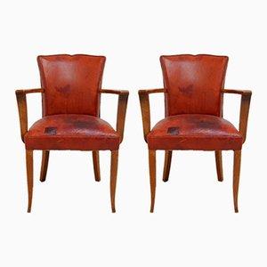 Moustache Back Bridge Chairs, 1930s, Set of 2