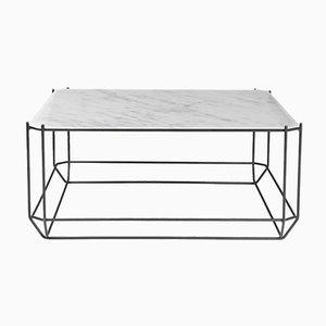 Table Basse Jewel avec Plateau en Marbre Blanc par Louise Roe pour Louise Roe Copenhagen
