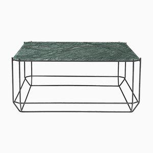 Table Basse Jewel avec Plateau en Marbre Vert par Louise Roe pour Louise Roe Copenhagen