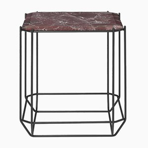 Jewel Side Table with Bordeaux Marble Top by Louise Roe for Louise Roe Copenhagen