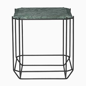 Jewel Side Table with Green Marble Top by Louise Roe for Louise Roe Copenhagen
