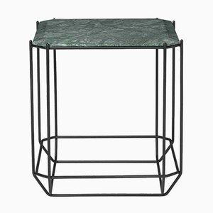 Table d'Appoint Jewel avec Plateau en Marbre Vert par Louise Roe pour Louise Roe Copenhagen