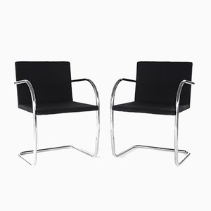 Brno Chairs by Mies Van Der Rohe for Knoll, 1970s, Set of 2