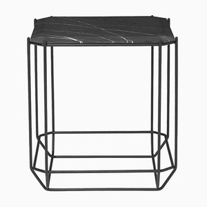 Jewel Side Table with Black Marble Top by Louise Roe for Louise Roe Copenhagen