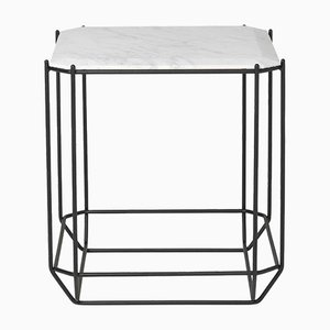Jewel Side Table with White Marble Top by Louise Roe for Louise Roe Copenhagen