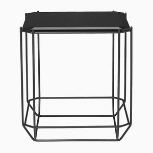 Jewel Side Table with Smoked Glass Top by Louise Roe for Louise Roe Copenhagen