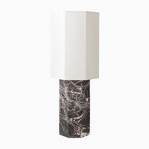Eight Over Eight Tischlampe aus bordeauxrotem Marmor mit weißem Schirm von Louise Roe für Louise Roe Copenhagen