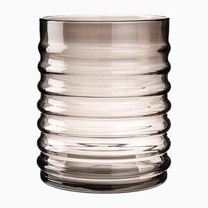 Vase Willy en Verre Fumé par Louise Roe pour Louise Roe Copenhagen