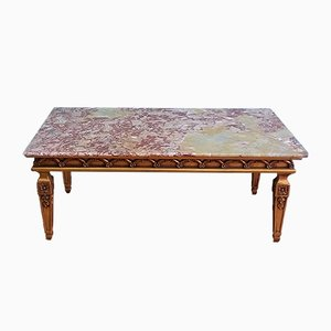 French Marble Top Coffee Table, 1960s