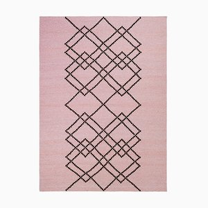 Wool Pearl Rose Borg #02 Rug by Louise Roe for Louise Roe Copenhagen