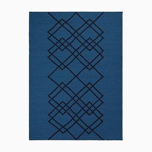 Tapis Borg # 04 Royal en Laine Bleue par Louise Roe pour Louise Roe Copenhagen