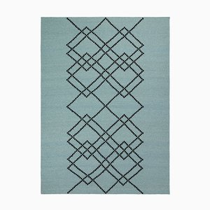 Vintage Green Borg #04 Rug in Wool by Louise Roe for Louise Roe Copenhagen