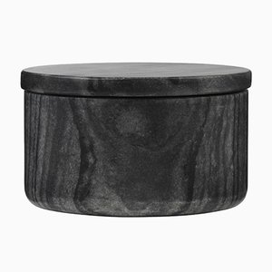 Black Marble Bertha Bowl by Louise Roe for Louise Roe Copenhagen