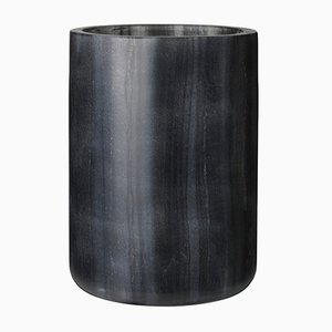 Black Marble Bella Vase by Louise Roe for Louise Roe Copenhagen
