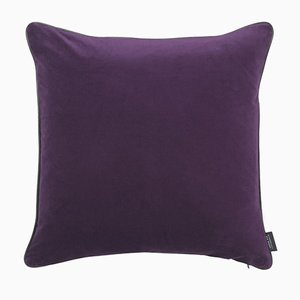 Amethyst Piping Cushion with Leather by Louise Roe for Louise Roe Copenhagen